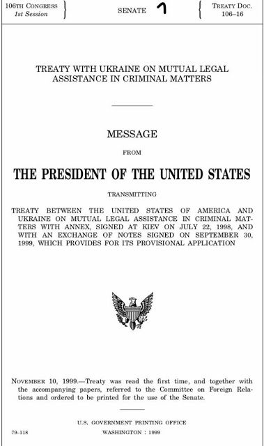 Did You Know There's a Treaty Between the USA & Ukraine Regarding Cooperation For Prosecuting Crimes?