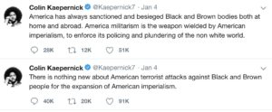Kaepernick's Anti-Military Tweets Destroy Liberals' Narrative About Him