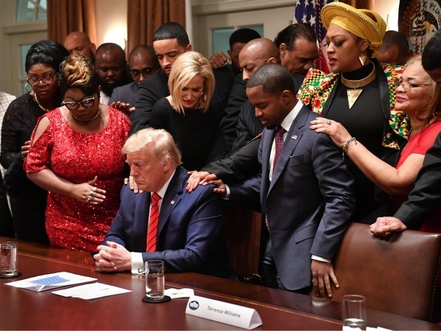 Black Leaders Pray for Trump at Black History Month Celebration