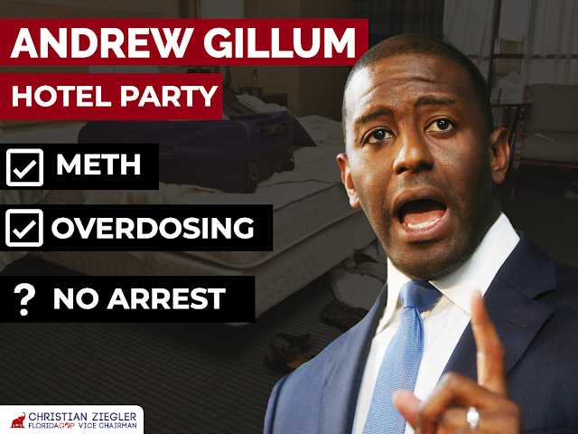 Joe Biden's top surrogate in Florida Andrew Gillum found in Miami Beach hotel room with suspected drugs, police report says