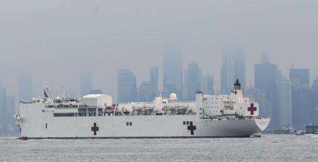 USNS Comfort hospital ship arrives in New York harbor amid coronavirus outbreak