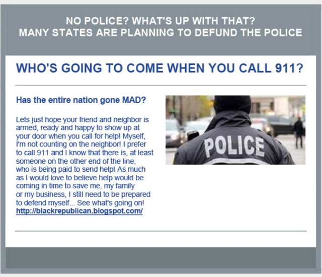 Liberal Insanity – Defund The Police!!