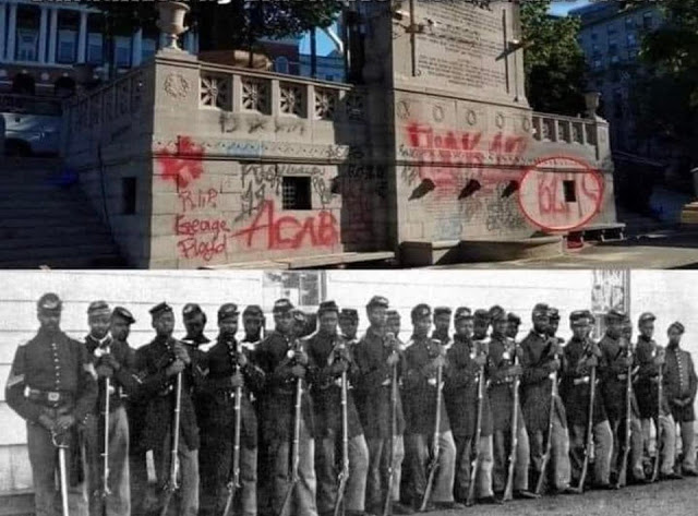 BLM vandalized the 54th Massachusetts Regiment Memorial