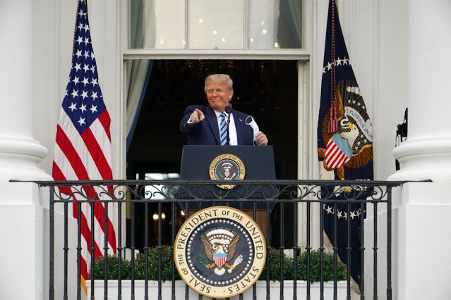 Trump addresses public for first time since contracting COVID-19