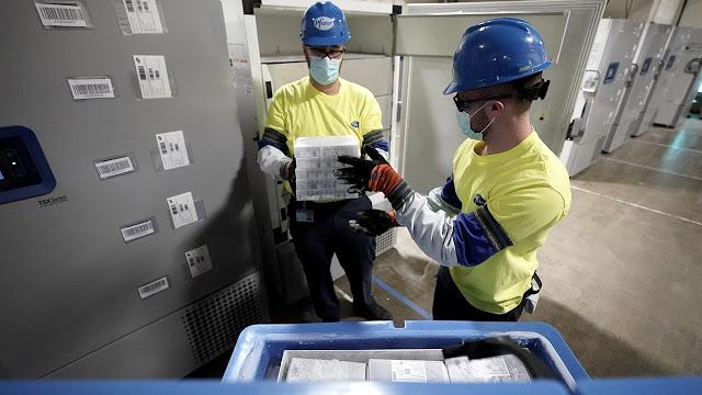 First shipment of Pfizer-BioNTech coronavirus vaccine leaves Michigan facility