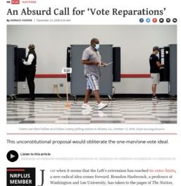 "Vote Reparations: ""Really Insidious"""