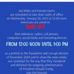 Join The National Inauguration Day Ceremony Boycott