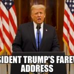 President Donald J. Trump Farewell Address