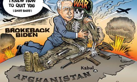 Brokeback Biden Can't Quit War