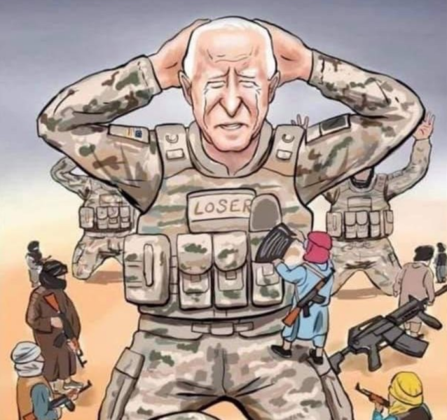 """New Chinese Media Cartoon of a """"Defeated and Humiliated"""" Joe Biden is Worse Than Anything Printed in The US"""