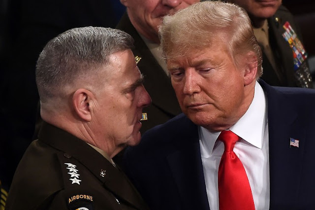 Milley's actions were attempted military coup against Trump